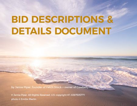 commercial photography guide bid details guide cover